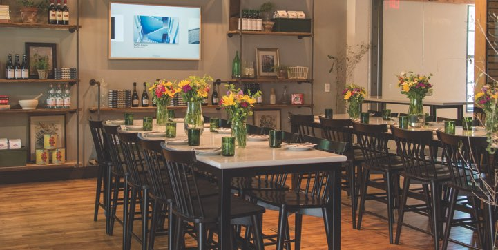 The LUCA Alimentari set up for an evening event